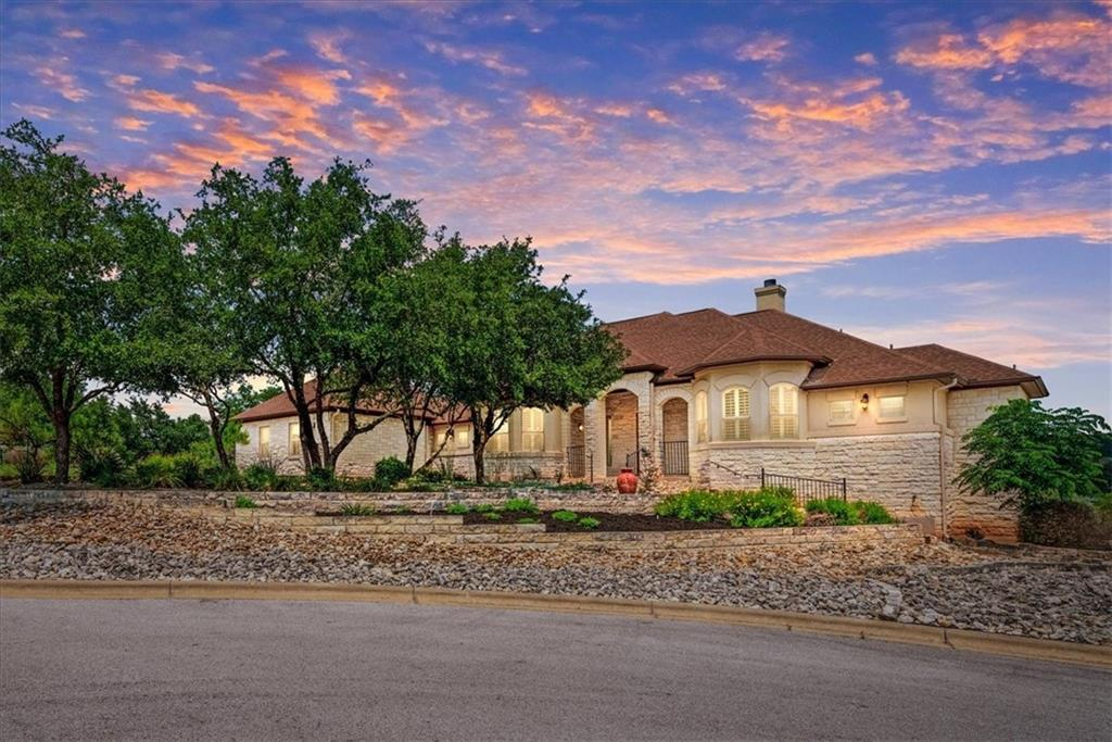 Rarely do homes like this come available in Grand Mesa.  Pride of ownership abounds in this sprawling and custom 1.5-story home being sold by the original owners.  It boasts an east-facing panoramic view of the valley and sits on 1.1 acres at the end of a quiet cul-de-sac. High ceilings and the open floorplan bring in soft natural light. The large kitchen is perfect for entertaining with an abundance of counter space and two islands. The upstairs bonus room has a private east-facing balcony and could serve as a 4th bedroom with its own closet and half bath.  The sprawling primary suite feels like part of the lush landscape with a private patio entrance and two walls of windows overlooking the valley.  Award-winning Leander ISD schools and just 10-minutes to shopping including Starbucks, Randalls, and many restaurants.  The community includes two pools, a fishing lake, an 18-hole disc golf course, sand volleyball, sports courts, tennis courts, and miles of hike & bike trails.