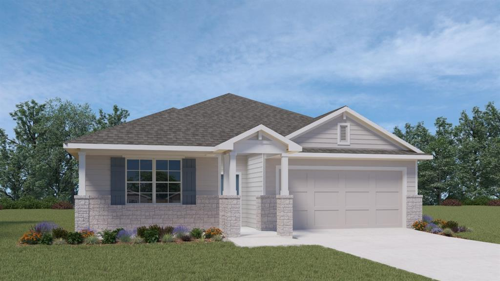 UNDER CONSTRUCTION - EST COMPLETION TBD.  One of our most popular one story homes designed for maximum livability!  Spacious open concept central living area adjacent to kitchen with breakfast bar, granite counters, stainless steel appliances, sunny dining area!  Supersized walk in closet in Bedroom 1, plus over-sized tile shower, double vanity.  All this and covered patio in spacious yard with full sod and irrigation system. Come on out and be Hip in Hutto!