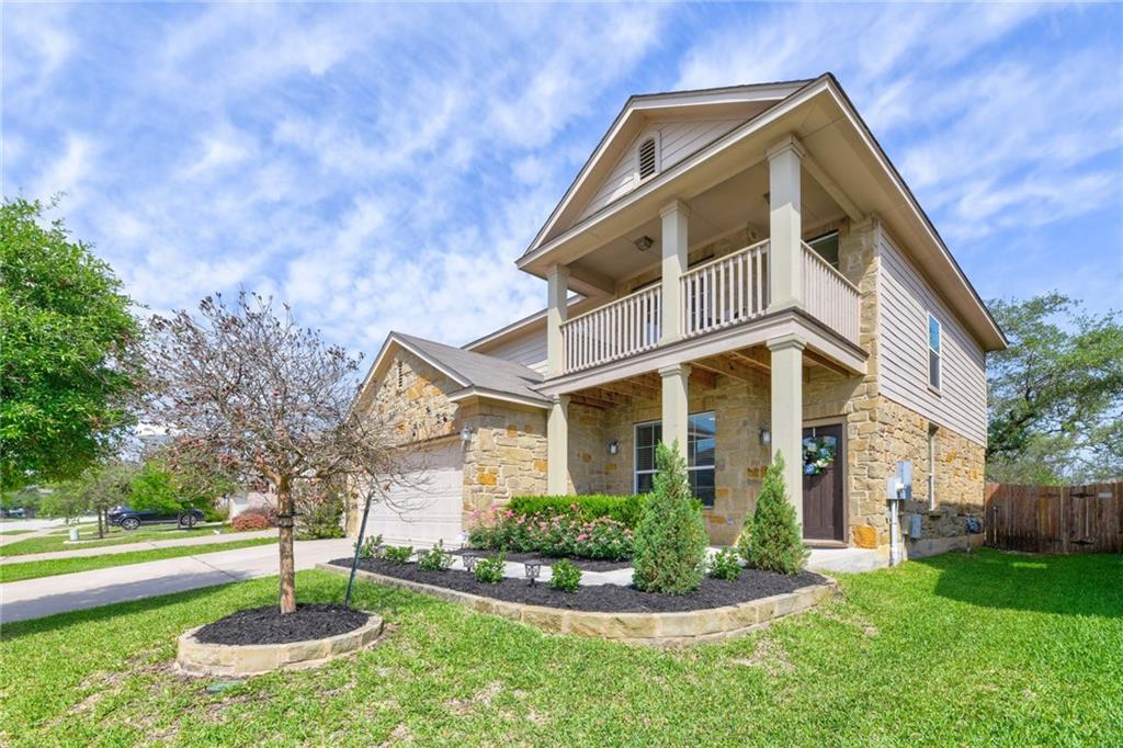 Welcome home to this beautifully upgraded 3BD/2.5BA family home in Glenfield. Located just 20 minutes from downtown Austin and less than 5 minutes from the nearest shopping and dining destination. Close to the future Apple Campus and the Dell Children's Hospital. Minutes from the Kelly Reeves Athletic Complex, Brushy Creek hike and bike trail, playgrounds and splash pad. In the highly-rated Leander school district.   Professional landscaping and a towering patio add to the pleasant curb appeal of this home. You'll love working in your huge home office with windows and double doors. The open living and dining spaces are perfect for easy entertainment. Numerous upgrades include wood flooring and designer light fixtures throughout. The luxury kitchen features stainless steel appliances, granite countertops, custom backsplash, custom island and cabinetry. Enjoy easy patio access for year-round entertaining. Large main-floor laundry with custom build-ins for added convenience.   Upstairs features a bonus family room with a balcony behind tasteful French doors. Retreat to the large master bedroom featuring bonus closet space, a custom-tiled master bath with a glass shower, oversized soak tub and double vanities and a WIC with built-in storage. High-end carpet upgraded less than a year ago throughout the home.  Outside, host and relax in style on an upgraded covered patio, perfect for summer cookouts. The private and oversized manicured yard is perfect for kids and pets, and features mature trees and $20k of professionally landscaped seating area that add to the private ambiance. This upgraded is the perfect setting for you to live, work and play!  The Avery Ranch community features 6 pools including a Junior Olympic-size pool and splash pad, amenity center with covered pavilion and picnic table seating, full-size basketball court, 5 tennis courts, sand volleyball court, playground, public golf course and access to the Brushy Creek Trail system and parks.