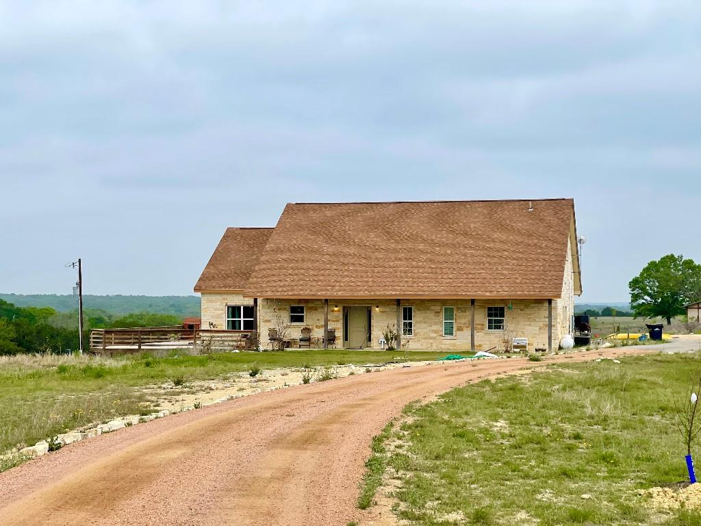 Beautiful gentleman's ranch with high quality 4 stable barn. 100% masonry house, great storage spaces, approx. 1700sqft deck. Must see!  The View is wonderful and peaceful, 6.6 acres, approx 4000 sqft, 4 stable Barn, and almost 300sqft conditioned Music Studio. perfectly located near town, but still out in the country, 2.5 miles from Liberty Hill, 3.5 miles from HWY 29. No active HOA. 1700 sqft deck. Well water. Security cameras. fully networked with CAT6. Huge master closet.