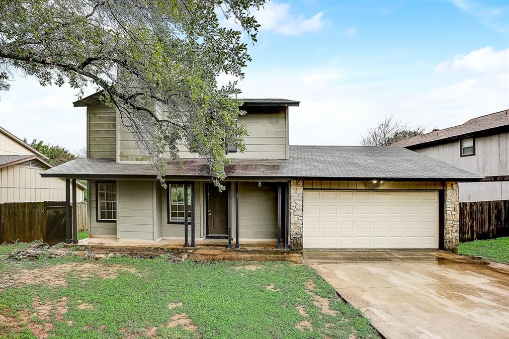 This Austin two-story cul-de-sac home offers a two-car garage.