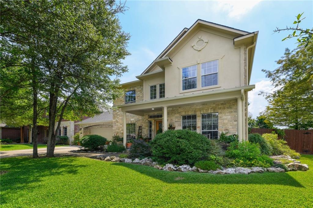 You can't beat the location of this beautiful Ranch at Brushy Creek Home. Home sits on a quiet street, around the corner from a park with sand volleyball courts, picnic tables, playgrounds, and a community pool. Quick access to Parmer Ln, 183 and I35 make it ideal for a quick commute to work, shopping, dining and more! Highly acclaimed Leander ISD or Round Rock ISD schools. Home features a gorgeously landscaped yard with an extended outdoor covered patio with a wood burning outdoor fireplace, sink, fridge and grill. The downstairs wood floors extend up the stairs to the second floor. The gourmet kitchen features double islands, granite counter tops, a huge walk-in pantry, and tons of canned lighting. Use the front room as a dining room or formal living room. Private office is the perfect place to work from home. Primary bedroom and bathroom are located on the main level, optimizing privacy. Bathroom includes double vanities, a separate shower and garden tub and plenty of storage space. Upstairs, there is a spacious game room as well as three additional bedrooms and two more full bathrooms. Guests will love having their own private bathroom! Recent upgrades include: new roof (June 2021), and new high efficiency a/c units (18 months old). Come see today!