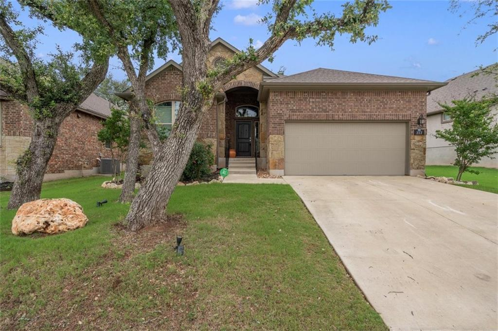 Charming Chesmar built home on Oak covered lot in established section of Water Oak Subdivision! The Bailey Floor plan boasts 1,919 SF and offers 3 BDS/2 BA + Study. Kitchen easy to entertain in w/ granite counters, island and stainless appliances. Windows along the back wall allow tons of natural light. Covered patio includes mounted TV perfect for football season! Garage upgraded with epoxy flooring in 2019. Mature Oak trees in both the front and back allow for plenty of shade. Additional items conveying in sale: Kitchen Fridge, Garage Fridge, Washer/Dryer, Mounted 3D TV in Living Room, Garage Storage Racks, Mounted TV on back patio. Don't miss out on this Georgetown beauty!