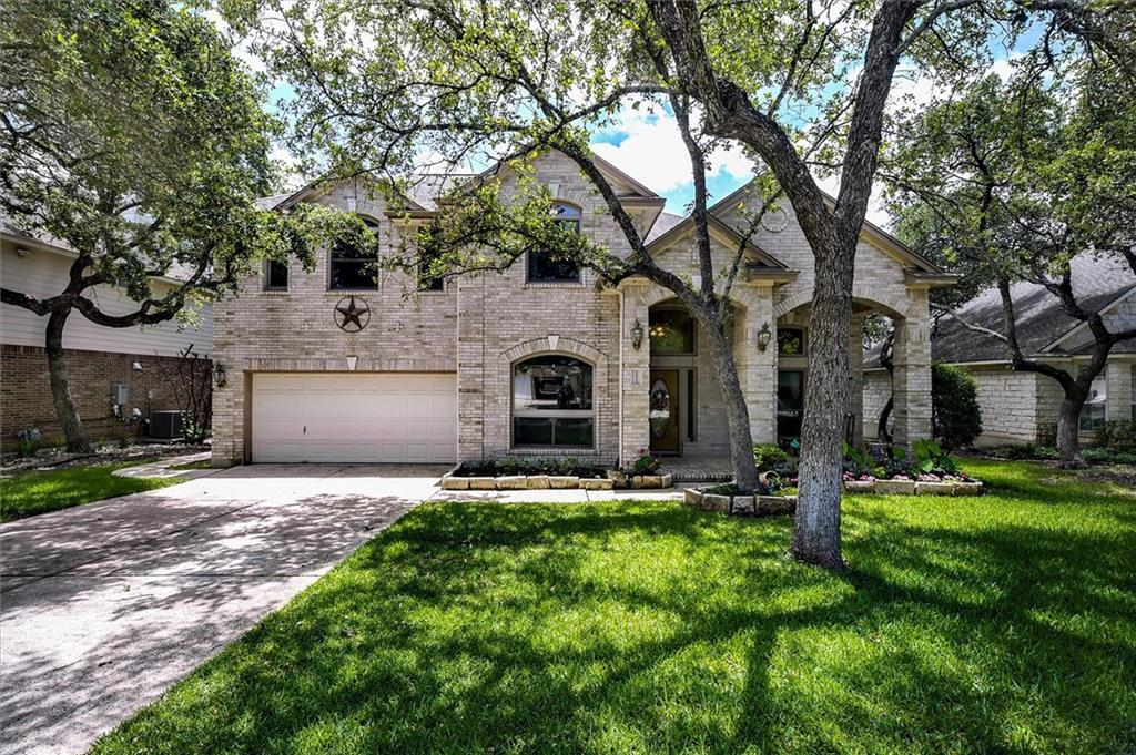 Stunning 3 bedroom 2.5 bath home in Oakmont Forest Dr. You won't believe the upgrades here. At the entryway, you'll find a beautiful foyers with a stained glass window above the entry door plus a formal dining room with custom window coverings and a spacious office/den area. Kitchen is all new stainless steel appliances and granite counters open to a beautiful living room with built-in bookcases and gas fireplace. Upstairs is a wonderful game room for family to relax; spacious master bedroom with double windows that overlook the stunning backyard. Master bath has his/hers vanities, large soaking tub, glass walk-in shower; walk-in closet. Upstairs laundry room with cabinets/counters. Shared secondary bathroom remodeled with double sinks. Two large additional bedrooms. Beautiful Anderson windows throughout with natural wood frames. Beautiful wood baseboards. 3 car garage with painted floor and workbench. New 16 and 17 SEER Rheem air conditioners installed in April 2021. Sprinkler system back and front concrete sidewalk to stunning backyard. Beautiful landscaping front and back. Covered grape arbor with swing. Storage shed with a concrete pad and concrete back porch. Beautiful front sitting porch. Don't miss this one, it won't last. $3000 PAINT ALLOWANCE!