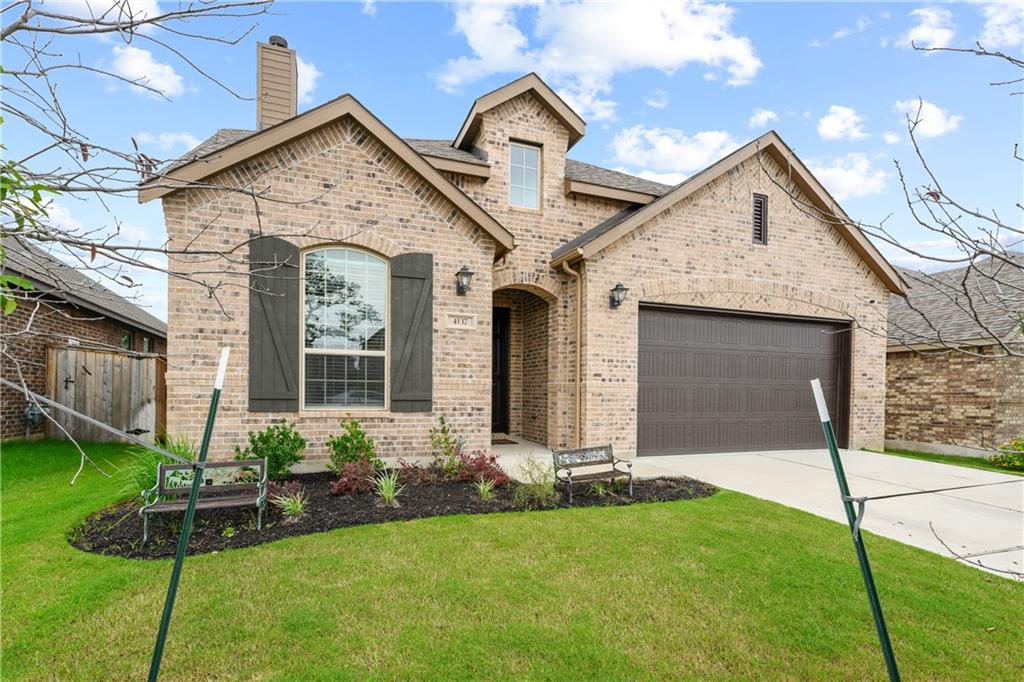 Built in 2019, this beautiful open concept home has many upgrades including a fireplace.  Master on main with additional bedroom/ office on first floor.  Two bedrooms and additional living space on the second floor with one shared full bath. Spacious, private back yard with mature tree. This is a must see in one of North West Austin's favorite neighborhoods.