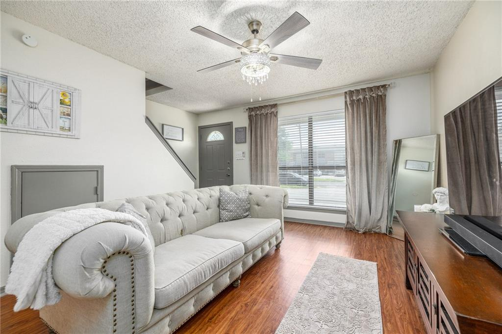 **APPOINTMENTS ONLY** Call or Text Agent 1 hour before to setup an appointment 512-999-0576. Whisper Oaks is a quaint 42 unit community located close to walking/biking trails, shopping, minutes to the freeway and historical downtown Georgetown square. The two bedrooms and a full bath are upstairs. The half bathroom is located on the first floor. The kitchen includes a dining area, a pantry, a washer dryer closet and the sliding glass door for access to the back patio and storage shed. Two designated parking outside your front door. The location is central with easy access to IH 35 and Williams Drive. Window treatments do not convey. Agent/Owner