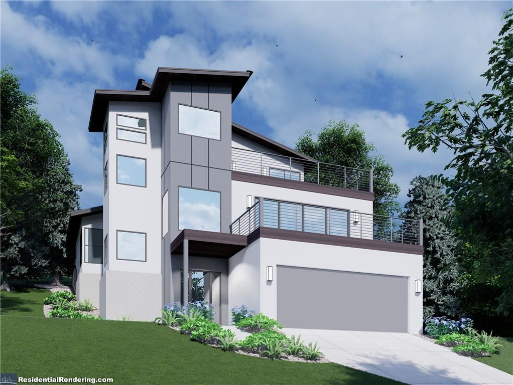 Don't miss out on this amazing pre-construction opportunity!! Private and customized luxury home with spectacular hill country and Lake Travis views! This is 1 of 2 to-be built homes, completely SEPARATE and UNATTACHED on opposite sides of one large lot. See pics for layout of both homes on the lot. This 3 story beauty is custom designed, engineered and will be built to the hillside. Magnificent 4,043 total square feet includes 2418 sq ft of interior space (3 bedroom, 2.5 bath, 1 office nook with a view), 695 sq ft of balconies, 752 sq ft garage and 178 sq ft of front and rear porches. Relax inside of your stunning palatial home and easily be whisked away between floors with your own elevator. Your spacious master bedroom and bath with soaking tub are on the main floor. Your gourmet kitchen opens up to the living area and a huge balcony. There are an additional 2 bedrooms and office nook with a view for your work from home needs. Host lavish gatherings on your beautiful 3rd floor sundeck with outdoors kitchen. Your large private garage and driveway have room for cars, golf carts and boat to head on over to the lake and golf course in mere minutes! Your custom home has 100% masonry with lifetime metal panel wood cladding. There are underground utilities and no power lines. A highly recognized interior designer picked out the finishes in light and dark schemes which allows you to customize to your taste. The low Lago Vista POA fee includes lake access by way of many waterfront parks and launches, fishing, tennis courts, community pool and fitness center, with more amenities coming. This is lake life at its finest!