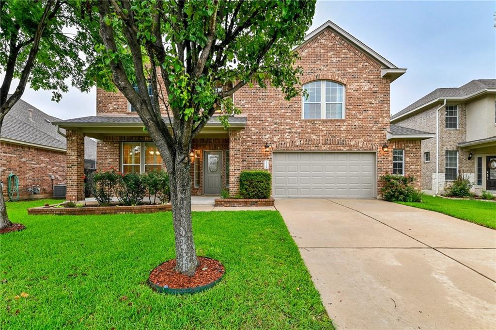 *Offer deadline Monday, 5pm* This timeless brick facade 5 bedroom home sits on a large west-facing flat lot with mature trees, an outdoor kitchen and plenty of space. Located in the excellent Round Rock School district, England Elementary and Pearson Ranch Middle School. Easy access to TX-45 for a short commute to downtown Austin.  Beyond custom front landscaping and a cozy front porch is a double-height foyer that opens up to the living and kitchen areas. A study with French doors is just off the entrance for a perfect home office. The stunning chef's kitchen features new quartz countertops and white subway tile backsplash, a wrap-around breakfast bar, matching appliances including a double oven and a cozy dining area with patio access. A walk-in pantry has plenty of space. The living room features huge windows, a corner fireplace and a spacious pen layout perfect for entertaining. There is a bedroom on the main floor that could easily become a second office or a perfect guest room.  Upstairs find yourself in a spacious open landing that's great as a media/game room. In the primary suite, you'll love the vaulted ceilings and a spa-inspired bath with double vanities, a large garden tub and glass shower. A huge walk-in closet offers plenty of space. Three additional bedrooms are on the floor, with plenty of light and closet space. New carpet installed 2021!  Retreat outdoors and entertain on the patio or take advantage of the beautiful outdoor kitchen and extended seating area. The fully fenced flat yard has plenty of room for a playground, pool or elaborate garden. The property is minutes from the coming soon Apple campus and Dell Children's Hospital, nearest shopping and gourmet dining destinations, golf courses, an athletic complex and blocks from the Avery Ranch Morningside Main Amenity Center. Classic elegance meets modern sophistication in a fantastic location - book your showing now!