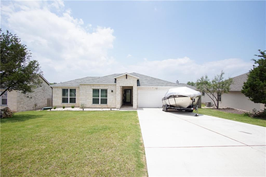 Beautiful house in Lago Vista so close to the lake! Features 4bd/2bath, open concept home with a beautiful exterior deck. Spacious kitchen with granite countertops, tile backsplash, and the perfect amount of natural daylight. This is a move in ready home, come and see!