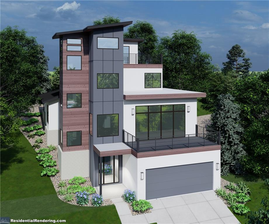 Don't miss out on this amazing pre-construction opportunity!! Private and customized luxury home with spectacular hill country and Lake Travis views! This is 1 of 2 to-be built homes, completely SEPARATE and UNATTACHED on opposite sides of one large lot. See pics for layout of both homes on the lot. This 4 story beauty is custom designed, engineered and will be built to the hillside. Magnificent 4,180 total square feet includes 2698 sq ft of interior space (4 bedroom, 2 full bath, 2 half bath includes 1 on the rooftop sundeck, 1 office nook with view), 552 sq ft of balconies, 752 sq ft garage and 178 sq ft of front and rear porches. Relax inside of your stunning palatial home and easily be whisked away between floors with your own elevator. Your spacious master bedroom and bath with soaking tub are on the main floor. Your gourmet kitchen opens up to the living area and a huge balcony. There are an additional 2 bedrooms and 1 office nook with views for your work from home needs. Host lavish gatherings on your beautiful 4th floor sundeck with outdoors kitchen. Your large private garage and driveway have room for cars, golf carts and boat to head on over to the lake and golf course in mere minutes! Your custom home has 100% masonry with lifetime metal panel wood cladding. There are underground utilities and no power lines. A highly recognized interior designer picked out the finishes in light and dark schemes which allows you to customize to your taste. The low Lago Vista POA fee includes lake access by way of many waterfront parks and launches, fishing, tennis courts, community pool and fitness center, with more amenities coming. Don't miss out, this is lake life at its finest!