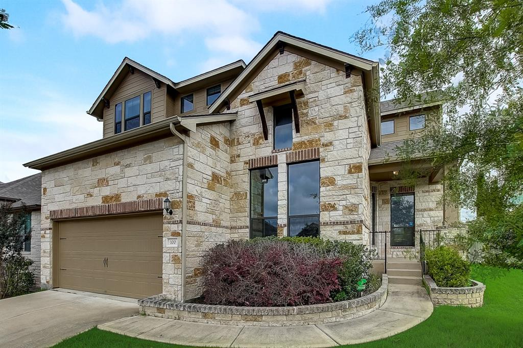 Built in 2014, this Round Rock two-story cul-de-sac home offers a patio, granite countertops, and a two-car garage.