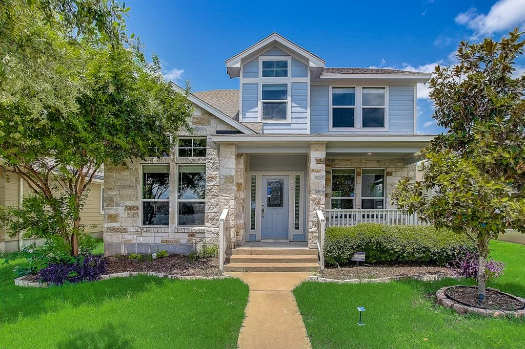 Built in 2012, this Pflugerville two-story home offers granite countertops, and a two-car garage.