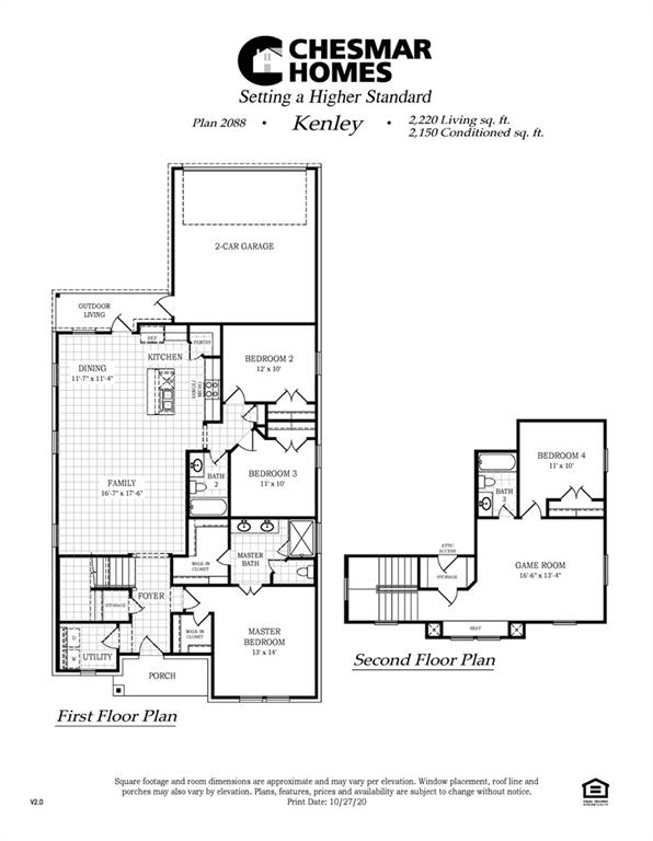 """2-Story Alley-Load home with 4 bedrooms, 3 baths, Game Room, large kitchen island with granite countertops and beautiful Kitchen backsplash.  High quality cabinetry with 40"""" uppers and decorative crown molding.  Deep stainless steel appliance package including GE freestanding 5 burner range, dishwasher, and microwave.  Garbage Disposal, Recessed icemaker line at Refrigerator, and filtered water system.   THIS PROPERTY IS IN A PID. Pictures represent floorplan only."""
