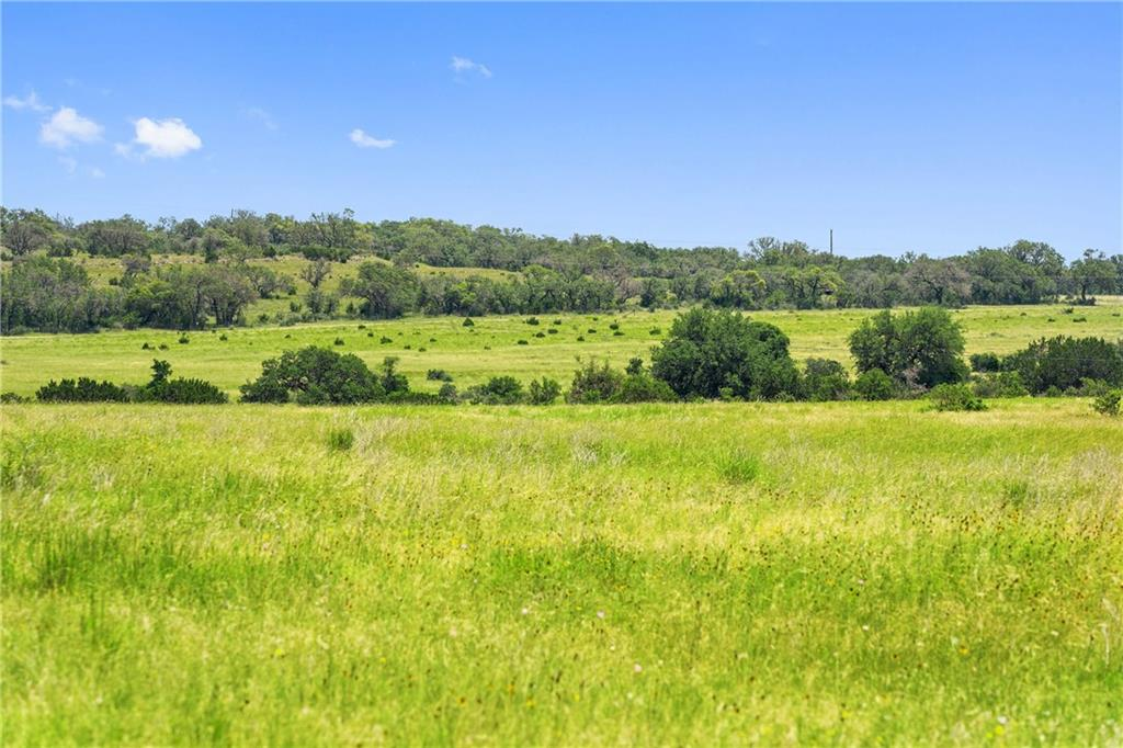 Charming and rare 14 acre property with peaceful surroundings and meandering wildlife. This property neighbors large ranches, is minutes from downtown Johnson City and Marble Falls, 40 minutes from Bee Cave, and 1 hour drive from Austin.  Gently rolling terrain, and fully fenced.  Wild game includes a healthy population of whitetail deer, turkey, and feral hogs.  Multiple potential sites for small food plot. Gorgeous sunset views with several potential building sites.  Electrical lines run through property, for easy electric setup. Property has 429 ft of frontage on County Road. With no deed restrictions, and Ag Exemption for reduced property taxes, this property offers endless opportunities!