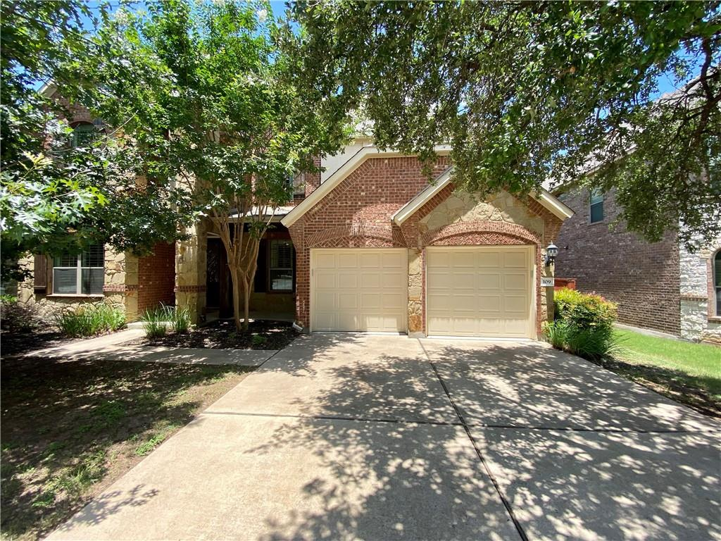 Gorgeous home in highly desirable Ranch at Brushy Creek neighborhood. Spacious, open floorplan with the master bedroom on the main level and 3 additional bedrooms upstairs. 2nd level also features a bonus/flex area, media room, built in cabinets and 2 full bathrooms. Beautiful kitchen with oversize center island and lots of storage. Living room is stunning with wood ceiling beams, built in bookcases and gas fireplace. This home was built for entertaining!