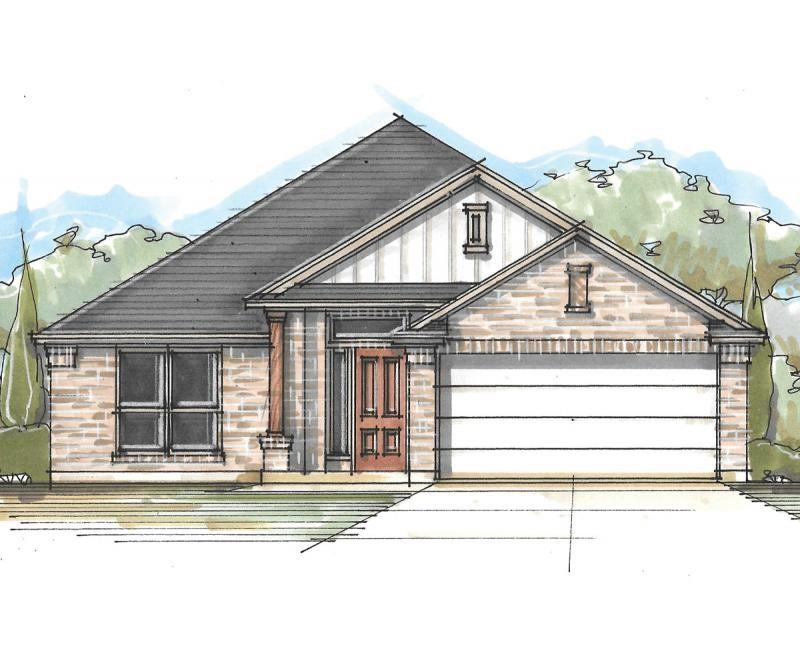 Milestone Community Builders. Estimated Dec 2021- March 2022 completion. This one-story floor plan emphasizes communal spaces with an expansive family room at its center. Each of the three bedrooms are well-sized, plus this home has a study/bedroom up front. Of course, the master suite is the most notable, with a dual vanity, oversized shower, and spacious walk-in closet. Other favorite features include the covered back patio and the walk-in utility room accessible from an added alcove space, ideal for hobby, work, or family organization. The home will have a full irrigation system and sod in the front and back. Vinyl plank flooring will come in all common areas & tile in the wet areas. Award winning Leander ISD school district that reports to Tom Glenn High School. Brand new Larkspur Elementary School located in the neighborhood and brand-new Danielson Middle School less than 10 minutes away. Walking distance from the amenity center which includes a pool, splash pad, fitness center, covered playscape and access to hike & bike trails.