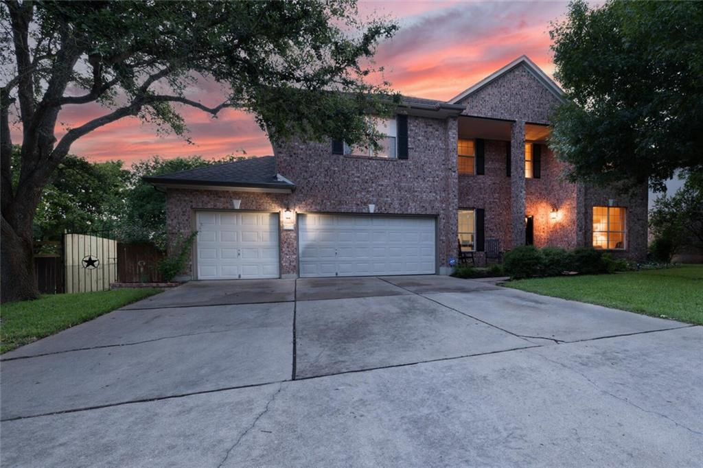 This fantastic home has everything you could ask for in a home!  6 Bedrooms, 4 Full Baths, an Office, 3 Car garage, and much more!  The home is 6 minutes to Amazon, 11 minutes to Samsung, 21 minutes to downtown Austin, and 23 minutes to the Tesla Giga Factory! The front entry has a sitting room and formal dining that is spacious, and the tall ceilings with beautiful light fixtures are sure to please! The living room has a cozy feeling with recessed lighting and a charming fireplace.  Upstairs an open living space greets you with another fireplace! Each bedroom has walk-in closets, giving this home ample amounts of storage.  Last but not least, the backyard has +40 ft tall trees, a covered deck, and a serene firepit area to entertain friends and family, or to relax at the end of the day.  Send your buyers to see this great house so close to Austin!  See showing instructions.