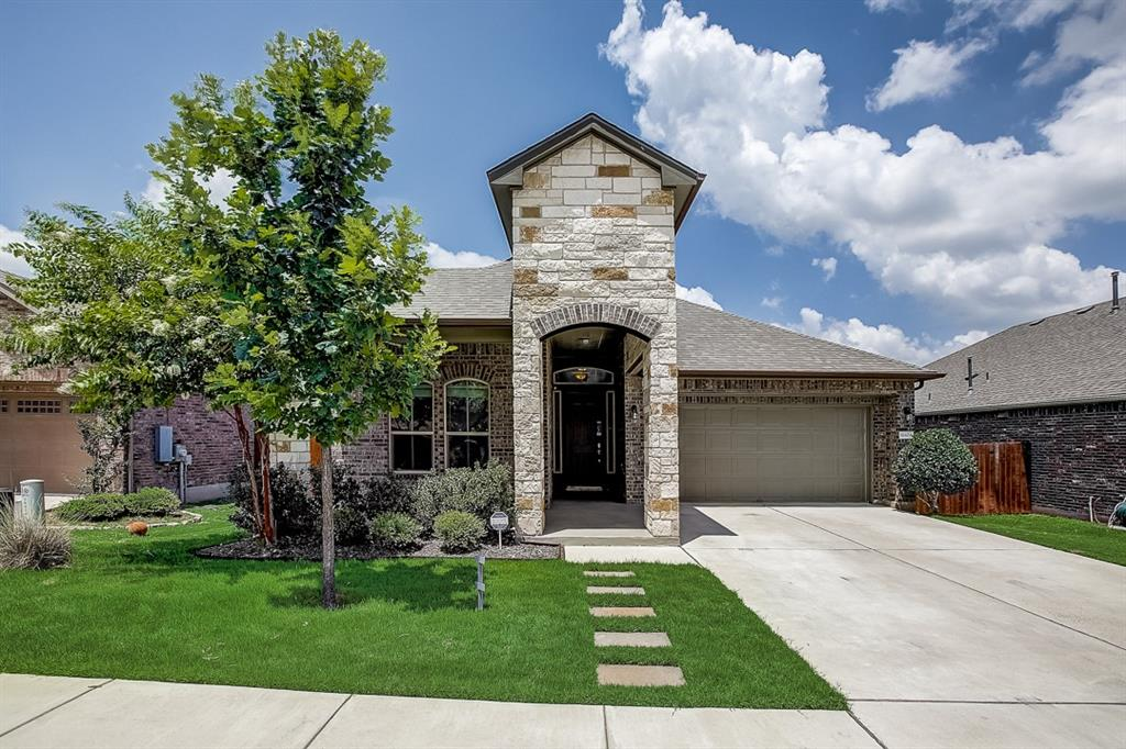 Built in 2016, this Pflugerville one-story home offers a patio, granite countertops, and a two-car garage.