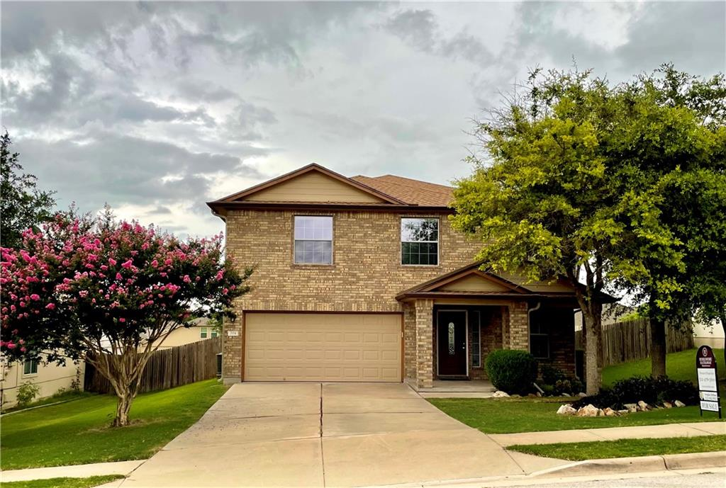 **Updated home, with many new features & inclusions** This home is a must see and move-in ready! Amazing Riverwalk Subdivision of Hutto on a quiet street. Easy travel to airport and downtown Austin.  Walkable to Elementary School, Hutto High School and local shopping, & just a few miles to local attractions such as Dell Diamond and Kalahari Indoor Water Park.    This 2-story, 2277 square foot, 2007 DR Horton floor plan is well done.  Property has NEW roof, A/C and carpeting!  Sits on a beautiful lot backing up to green belt.  2 car garage with excellent storage.  Spacious living room with wood floor open to the dining area off the kitchen.  Sunny kitchen includes updated Whirlpool appliances (electric oven, dishwasher, microwave, and refrigerator)!  The kitchen dining area opens out to a covered patio with large backyard deck.  The lot is well placed and has an amazing backyard, with pretty landscape ready for outdoor enjoyment.  Home has brand new carpeting throughout.  3/4 bedrooms are located on the second floor.  The primary bedroom boasts a large walk-in closet with shower and tub.  Each room has ceiling fans and the homes central air conditioning unit has been replaced within the last few years.  The second floor also contains laundry room with electric hook-ups and has a BONUS room for an office or playroom.  This home has been updated recently with a new roof (2020), water heater (2018), and the included kitchen appliances!  This is a must see home with great use of space.  Community has 2 pools, sports fields, children's parks, and walkways throughout community.   Please contact listing agent to see, lockbox available.  Accepting offers, no deadline.