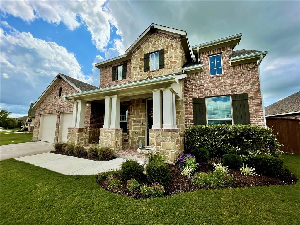 2018 BEST MASTER-PLANNED COMMUNITY featuring top notch amenities and highly rated Georgetown schools!  SRR includes multiple sparkling pools, splash pad, sports courts, green spaces, and numerous hike & bike trails winding throughout the community!  Elegant 2 story home featuring vaulted ceilings, wood floors, stone fireplace and a gourmet kitchen with white shaker style cabinets, built in double oven, and huge granite island. Floor plan features a master suite downstairs and a second floor with an extended game room, 3 over-sized bedrooms including one with its own private bathroom plus an additional full bathroom! The backyard features a covered patio with plenty of yard to entertain in your large lot.