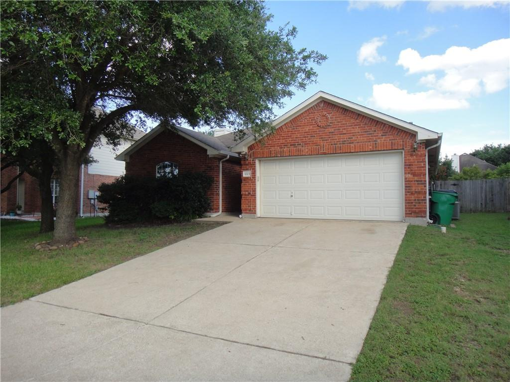 Cute 1 story 3 bedroom 2 bath house in Pflugerville close to I35, 45, and 130. Home has vaulted ceilings with plant/decoration ledges, Kitchen Island open to the living room that features a gas fireplace. Mother in law floorplan. Master bath with separate shower and garden tub with a walk in closet. home has in ground sprinkler system, water softener, covered back patio and gutters