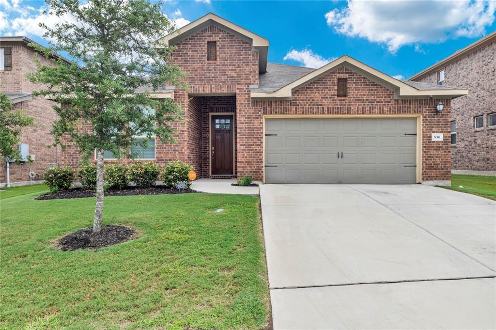 Rare large 1 story in Leander with 4 sides brick, tall ceilings, and walking distance to school and pool. This home offers 4 bedrooms, 3 full bathrooms, a large dining room, open kitchen, a mud area, plumed water softener, spray foam insulation w/ electric bill between $80-$150, and so much more. The laundry room is connected to the master for ideal living, 8ft doors, and no neighbors directly behind perfect for a quiet oasis for relaxing or entertaining!