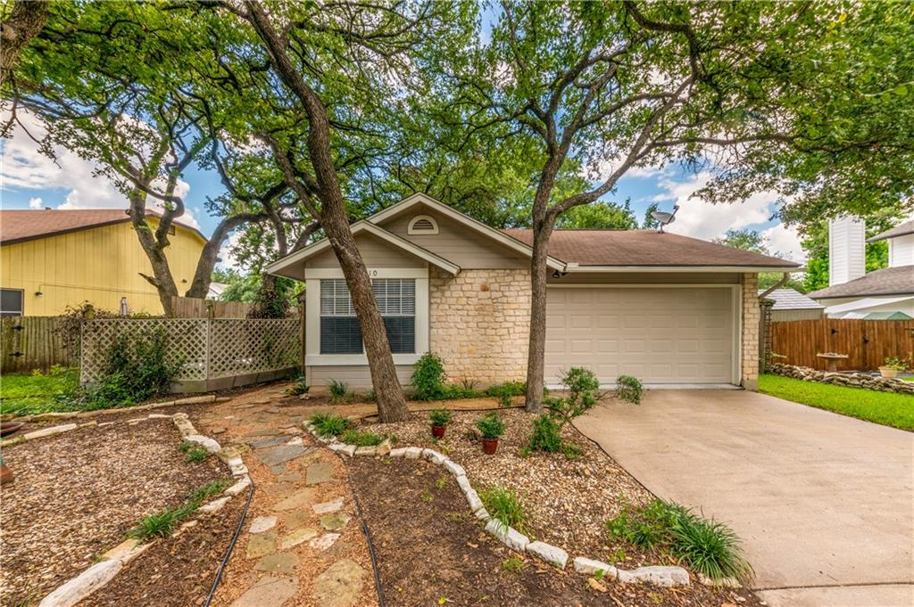 Great location covered with Oak Trees in Anderson Mill West! Set up for Incredible outdoor entertaining.This attractive 3 bedroom, 2 bath home is in a very accessible neighborhood conveniently located to 620, 183, and I45. Nice layout with Vaulted ceilings and an abundance of natural light! The kitchen features gas cooking and plenty of counter & cabinet space. Nice Laminate Floors, Solar Tube Skylight and More. Recently repainted exterior and replaced garage door.