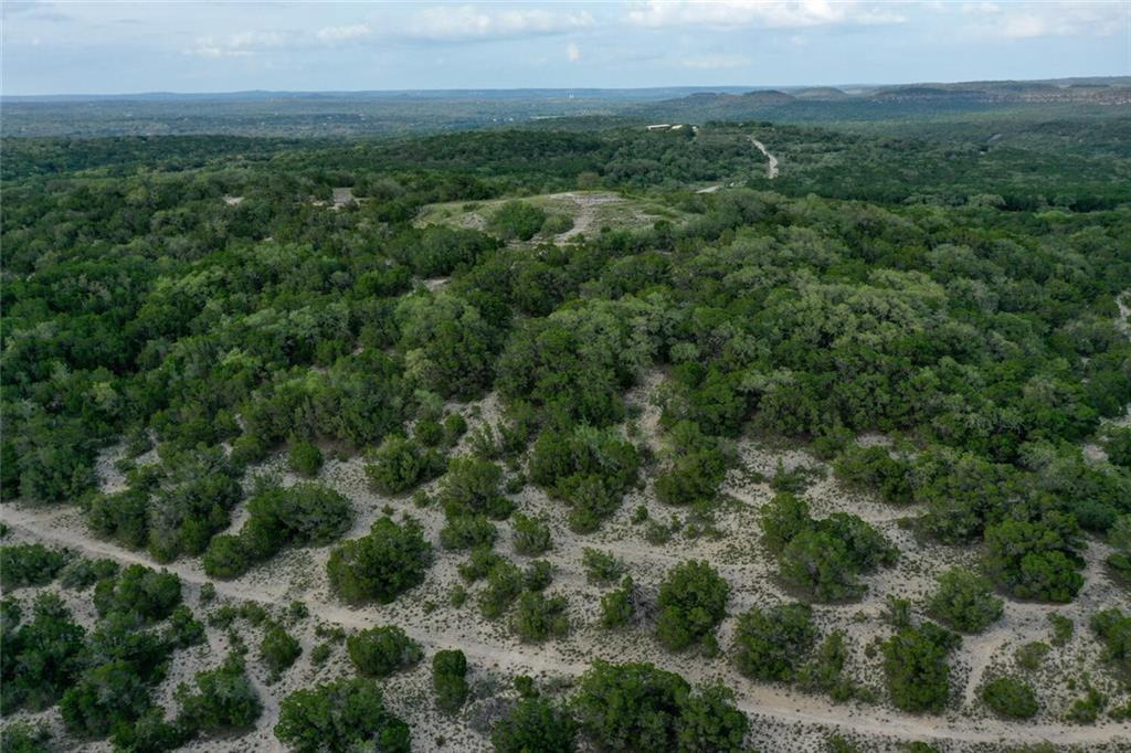 """Tract 2 at the Ranches at Sentinel Peak is an incredible opportunity to purchase a tract of land that only comes around once in a lifetime.  Home to the lone oak Sentinel Tree at a 1,250-foot elevation offering stunning panoramic views of the Wimberley Valley and Devil's Backbone.  The views are straight out of an old Western Movie with tabletops and hillsides abounding. This is a landmark lot in an inspiring setting, offering not only panoramic views but a covered arena, rustic cottage, well, and septic.  The Ranches at Sentinel Peak is named for the Lone Oak, standing atop the highest peak. This majestic """"sentinel"""" stands watch over the 430-acre ranch and is the prominent landmark visible throughout the property. The community is mostly bordered by conservation land, while the entire northern side is a 500+ acre Blanco River Park owned by Hays County. This will preserve the natural beauty of the surrounding tracts for years to come. A quiet and serene respite while being conveniently located midway between Austin and San Antonio. Austin Bergstrom and San Antonio International airports are each less than an hour away as are the city's restaurants, sporting events, and live music.  Closer still are Wimberley, San Marcos, Johnson City, providing its owners the best of both worlds---a private and peaceful sanctuary for living, coupled with easy access to all the wonderful opportunities nearby. The Ranches at Sentinel Peak's true value is in the land itself. You will find sprawling hilltop homesites with expansive vistas and low land with fertile pastures. This unique community will offer low taxes with a community wildlife exemption and sensible restrictions. Soon to be fully fenced and gated. Choose your own builder and build on your own timeline. There is plenty of room for your vineyard, gardens, a guest house for friends, and a barn for the horses! Create your Hill Country getaway on one of the last scenic pieces of land available in the area."""