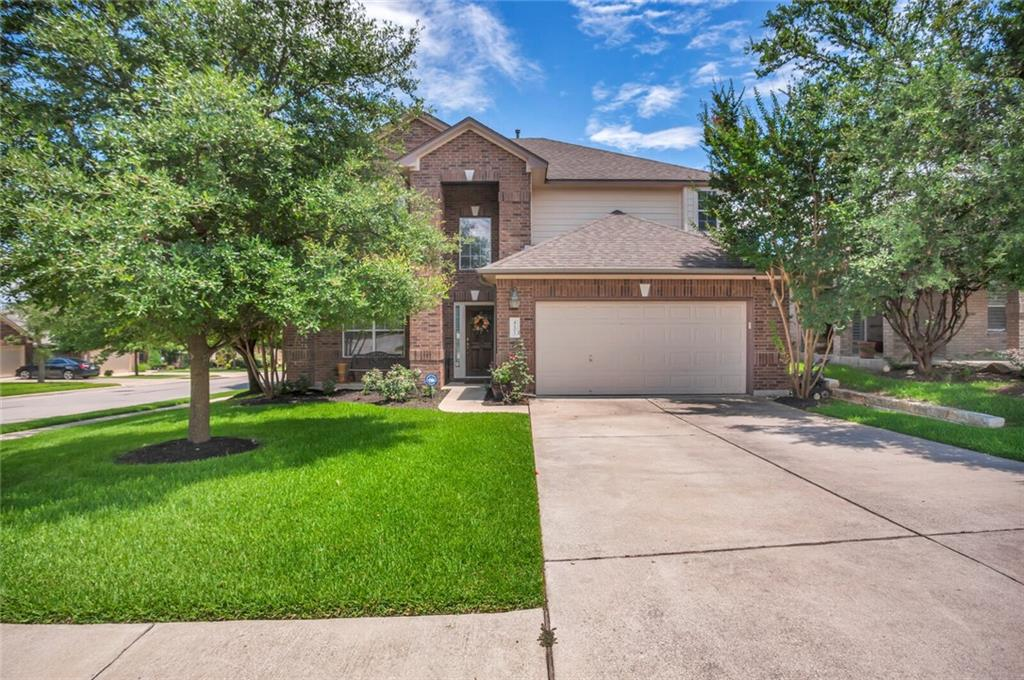 Upon requesting a showing please provide listing agent w/ pre approval letter from lender w/ statement that buyers loan will allow for a 12 - 18 month lease for seller.  Seller will only consider offers from buyer(s) who can allow for a 12 - 18 month lease back. Welcome home to this beautiful open 2-story home located in the very sought after golf course community Teravista in Round Rock, TX. 2 car garage, 5 bedrooms, 2.5 baths, dining, eat in kitchen and breakfast bar. Beautiful large square tile downstairs and wood like tile floors in living, primary bedroom and bath. Two full baths with double vanities and a half bath for guests downstairs. High ceilings with an abundance of windows allowing natural light in the home. Covered front porch and covered back patio. Nice size corner lot backyard with full wooden fence. Front and back sprinkler system. One and only original owners of home who have shown home so much love and attention. Close to Round Rock outlet mall, HEB, restaurants, IKEA, the new Kalahari Resort and indoor water park, Dell Diamond, hospitals and Austin Community College. Upgrades and updates: - Wood like tile floors in Living room/Primary bedroom/Primary bathroom/Primary closet - March 2018 - AC - New Coils - Approximately June 2013 - AC - Upgraded Zoning Equipment - August 2018 - Game Room Conversion into 5th bedroom - December 2016 - Upgraded landscaping - May 2021 - Replaced stove, microwave oven, dishwasher & refrigerator - April 2018