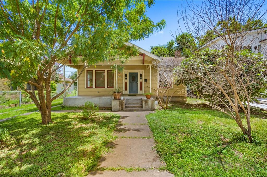 This charming, original Waterstreet bungalow affords a multitude of opportunities and uses on a flat lot with potential downtown views.  The property is within walking distance to downtown Austin, a host of restaurants, Trader Joe's, the Saltillo Plaza redevelopment, and the Town Lake Hike and Bike Trail.  The property is situated along a major thoroughfare with adjacent residential uses on either side and commercial property across the street.  The property is zoned CS-MU-CO-NP.  The base-level zoning allows a broad offering of uses including office, professional services, hospitality, and others, and affords building heights of up to 50 feet with 95% impervious cover and 2:1 FAR.  The property has rear alley access and sits on a 7,562SF lot that is approximately 46' x 137'.  The original pier and beam home had all new piers installed by the current owner and features antique longleaf pine flooring, shiplap wall details, and high ceilings.  The layout features 3 bedrooms and 2 bathrooms or could easily be configured as 5 private offices, a large conference room/greeting area, and a full kitchen with solid wood cabinetry. Any development potential or end-use should be verified by the Buyer with the city and a licensed engineer.  Neither Broker nor Seller warrant any development use or building potential.  Buyer should independently verify.