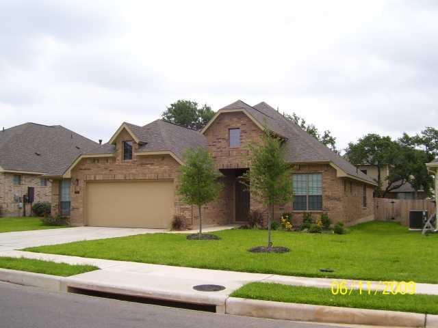 This 2 story home has all the upgrades. 2 Living areas & 2 dinning areas. All the bedrooms are downstairs. There is a media/game room upstairs w/ a half bath as well. There is a sprinkler system for the yard and a water softener. The kitchen has tons of counter space all granite top counters. Stainless steel appliances, high ceilings. The master bath has separate shower/tub w/ jets in the tub. A large walk in closet w/ dual vanity. The back yard is fenced & the neighborhood is just wonderful!!