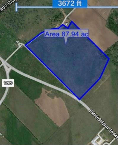This property has a wide range of potential uses with 2743 feet of road frontage off 969/county road Doc Bryson.  The cleared level terrain is ideal for commercial or residential development or a mix thereof.  There is sufficient depth to utilize the front of the property for commercial and reserve the back for residential or even ranching or recreational activities.  Unrestricted, high fenced tracts of this size are difficult to come by.  Buyers agent must be identified at first contact and present at showing.