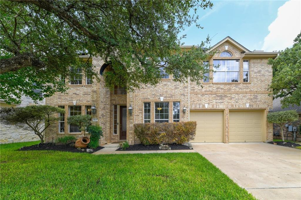 Offer deadline Monday (7/19) at 5pm. Charming home in highly coveted Parkside at Avery Ranch. Walk to 10-Rated Patsy Sommer Elementary and zoned for Pearson Ranch Middle School in Round Rock ISD. This home features 8 kW solar panel system, Nest thermostat, new shingles to be installed before closing, attractive brick façade, 4 beds, 3 full baths. Beyond custom front landscaping and a cozy front porch with double height brick archway, you enter an ornate front door into the large foyer. On the left, you find the formal dining room. Across the foyer is the dedicated office space with large closet and French doors.  Continue into the stunning living space. Double height ceilings and the fireplace will dazzle you. You feel welcomed by the abundance of natural that fills the room from the walls of windows. The open-concept floor plan connects to the kitchen that boasts an abundance of granite countertops and cabinets for storage, stainless steel appliances, and large pantry. In additions, this kitchen features upgrades of a gas cooktop with ventilation and downlights. The first floor includes a secondary bedroom and full bath convenient extended stays or long-term visitors.  Follow the easy flow of this home's design to enjoy upgraded wrought iron balusters on the stairway to reach the second floor. Discover a spacious game room easy to customize. Travel down to the landing that is open to view the first floor below.  Pass two more spacious, secondary bedrooms with large windows and ceiling fans on your way to discover the owner's retreat with extra privacy and a walk-in closet with windows. The en suite bathroom offers over-sized tub, walk-in shower and vanity. Relish your quiet evenings or host a lively gathering in this magnificent outdoor area that includes extended patio, play equipment, and mature trees.   Enjoy Avery Ranch amenities, 6 pools, tennis courts, playgrounds and a trailhead for the Brushy Creek Trail is just around the corner.