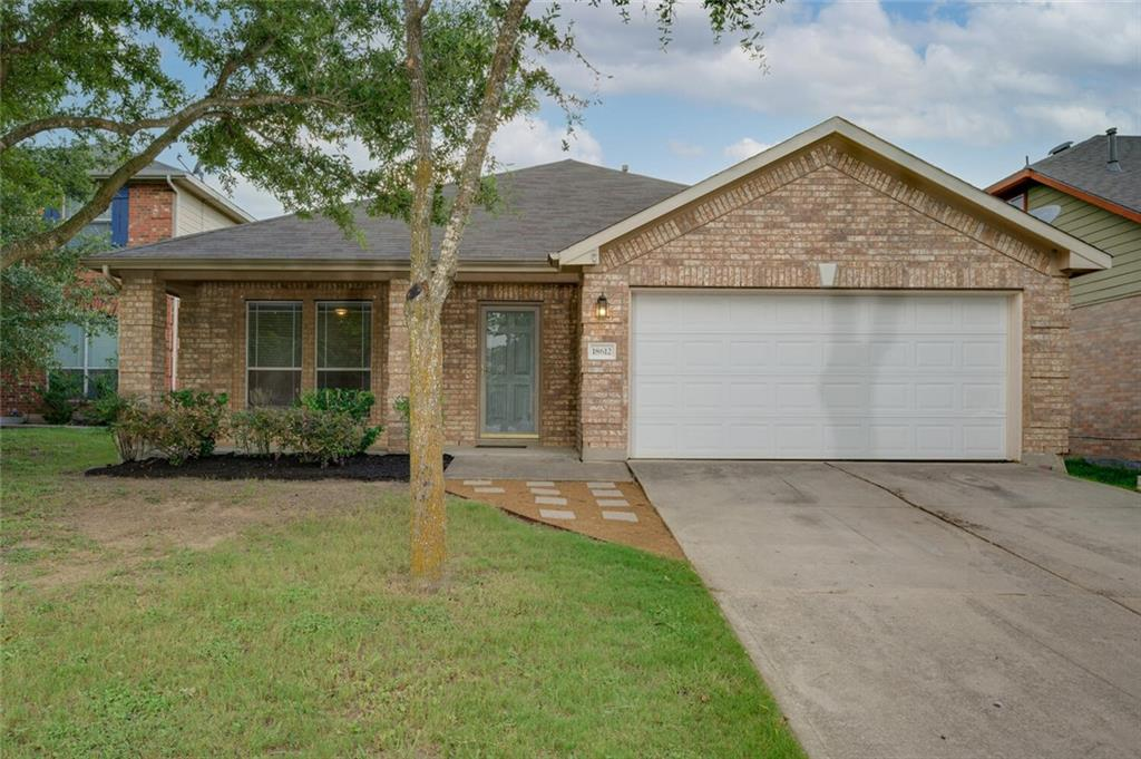 Move-in ready one-story home on a cul-de-sac lot in beautiful Villages of Hidden Lake. This home is only 1/2 miles to Lake Pflugerville with access to hike/bike/jog trails, fishing, and gazebos. The neighborhood has fantastic amenities: pool, splash pad, trails, wide sidewalks, playground, and much more. Only 1.5 miles to gorgeous Blackhawk Golf Club. Less than 3 miles to Pflugerville's premier shopping center: Stone Hill Town Center. The 3 bedroom/2 bathroom home has a large study away from the family room, and a flex room right outside of the two secondary bedrooms. The additional living areas provide lots of flexibility. The kitchen opens to the dining space and extra-large family room. The large primary bedroom is separate from the secondary bedrooms and has two walk-in closets, a separate shower and tub, and a ceiling fan. 10-foot ceilings throughout. Recent paint, carpet, and vinyl plank. The large backyard is big enough for a pool and ready for you to add the finishing touches. Easy access to toll roads (130 & 45) and major employers (Dell, Samsung, Tesla, Amazon, Apple, and many more). Living here you'll have big-city conveniences close by while enjoying the relaxed suburban lifestyle. This is the home you have been looking for.