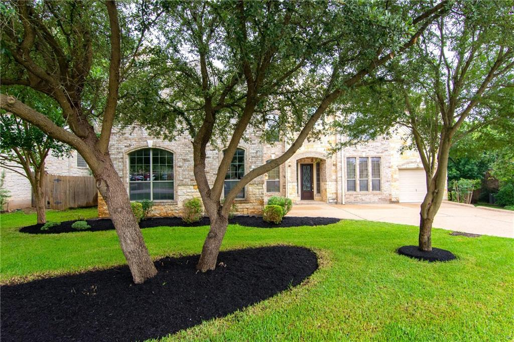 Highly desirable Lake Forest Subdivision!! Drees Custom Home ~2 Story, 4338 sq. ft.  (Per CAD), 5 Bedrooms ~ 4 full Baths ~ 3 car garage ~All sides masonry ~Formal dining area plus a dedicated office with French doors ~ Full guest bath on first floor adjacent to office  Large family room with approx. 20ft wall of windows with fireplace and overlooking rear yard and patio ~ Open kitchen to family room with Granite counters, tile backsplash, recessed lighting, pantry, breakfast area, bar seating, and Stainless Steel appliances ~ Owners suite on first floor with separate shower, corner jetted garden tub, and large walk in closet ~ Grand staircase of wood and iron banister leads to a huge game room open to living area and features a balcony view ~ 4 bedrooms and 2 baths anchor the game room ~ Home features separate laundry room, aggregate drive and rear patio, designer front door, gutters, sprinklers, landscaping, roof shingles replaced in 2019, ceiling fans, water softener, dual water heaters, and more! ~ Loads of flexible space for holiday gatherings or entertaining family and friends ~  Just 4 blocks to Elem/Middle schools and community pool/park. ~ Easy access to IH 35, 183 toll, Entertainment, shopping & Golf!!!
