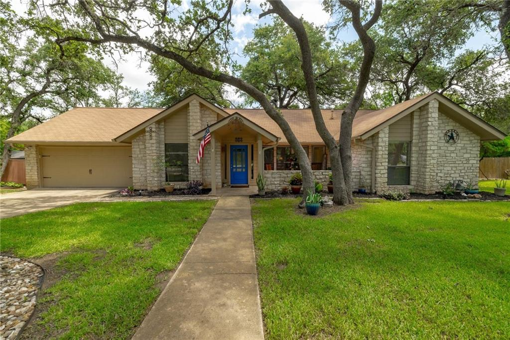 """The home of """"The Prize Oak"""" of Prize Oaks Dr. is now on the market! Arborists have said the tree in the backyard located on the deck is over 300 years old! This rare and beautiful home has been meticulously maintained and it is move-in ready. Impressive curb appeal at the front of the home featuring stone exterior, large oak trees, updated landscaping, and a newly replaced deck with tree shade for enjoying the mornings and afternoons. Upon entry, you are welcomed into an open living room with a high beamed cathedral ceiling. Just to the left of the entry is a dedicated formal dining space with a nice view of the front yard. Great floor plan with the primary bedroom separate from the secondary bedrooms. This home has had many updates and improvements throughout including a recently remodeled kitchen with new white cabinets and granite countertops. The bedrooms are spacious including the primary bedroom which features cathedral ceilings, new paint, new carpet, and french doors leading to the backyard. The backyard is worth the wait till the end. Outside you will find additional trees including a Live Oaks, Red Oak, Crepe Myrtles and a mid-life magnolia that provides great shade. Large backyard with a brand new deck to enjoy grilling and get-togethers. Great location close to restaurants, cinemas, the new Bell District, medical facilities, parks, and within 30 minutes drive to downtown Austin. Don't forget to check out Prize Oak Park on your way out where you will find a shaded playground with picnic tables nearby. NO HOA, low tax rate, all on almost a half acre lot."""