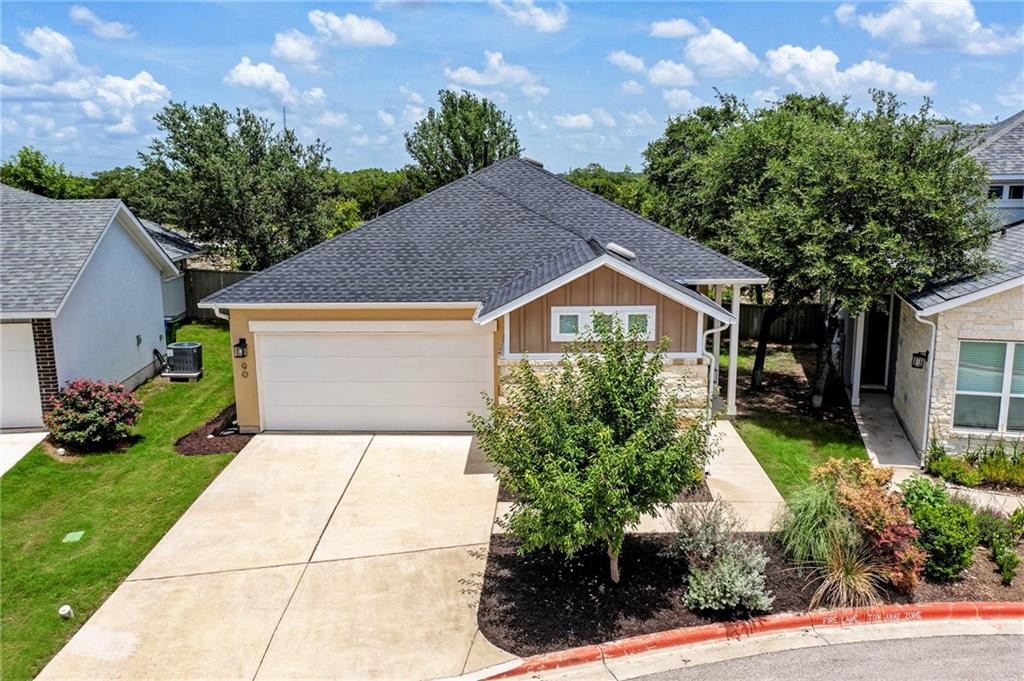 Gorgeous, well lit and well maintained luxury home in the small, private and gated Edgewater community; premium upgrades include a full 3rd bathroom, hardwood floors, kitchen backsplash, Ring video doorbell, Ring Chime, Google Nest Thermostat, granite countertops in kitchen; spacious patio; automatic sprinkler system; HOA maintains all yards and landscaping; 1/2 mile to HEB, Walmart, Specs, and Home Depot; 10 min drive to Round Rock outlets and IKEA;  Close to Cedar Park Medical Center, Whole Foods, Costco, etc