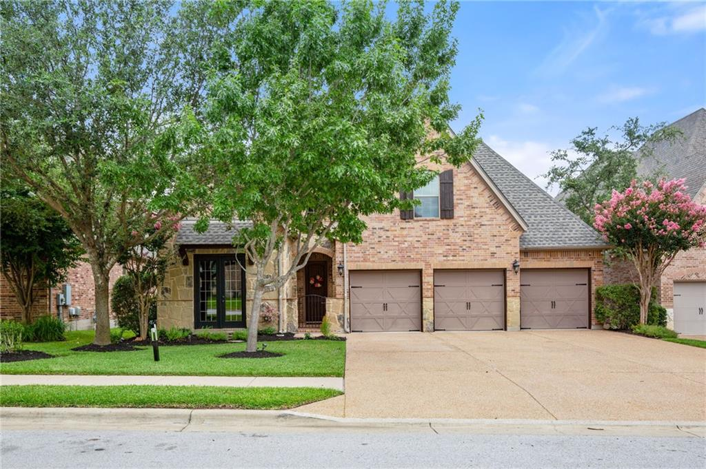 Stunning home in the Ranch at Brushy Creek , backs to greenbelt, and is gorgeously updated & upgraded! 4 bedrooms + office, 3.5 baths, 3 car garage, game room & home theatre room. Top Rated Schools including Patsy Sommer Elementary! Recent updates include: marble backsplash and quartz countertops installed in 2021, roof just installed July 2021, dishwasher GE Profile July 2021, updated flooring installed 2021, Restoration Hardware chandeliers at the entryway & kitchen dining table, dining room crystal chandelier from Pottery Barn, updated light fixtures in kids rooms, custom movie room. (Movie Room Equipment Conveys, including High-end Screen Innovations 110 in Zero Edge Projection Screen Slate, Epson Projector, Denon Receiver and Surround Sound Speakers.) A large covered patio overlooks the greenbelt with full tile flooring. Tesla charging station in the garage. Most of the home is painted in an extremely washable but matte Cashmere line from Sherwin Williams. Custom curtains in the master bedroom and custom-designed modern cornices in the kitchen convey.
