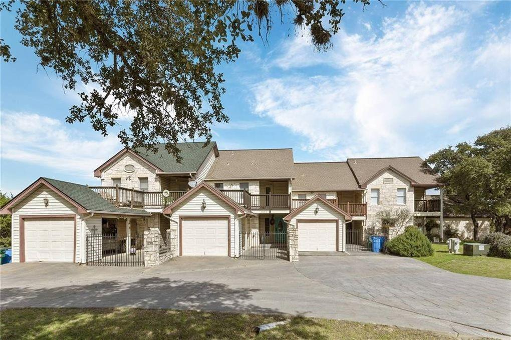 Very beautiful 4 story condo with panoramic views of the Hill Country & the Colorado River. You will not want to miss out on this charming & delightful layout in the sought out area of Lago Vista. Home will accomidate all your guest with private bathrooms in each room. 2 large decks that are great for entertaining.   Entry floor has kitchen, breakfast nook, dining and living area (with fireplace), laundry and 1/2 bathroom.  Bottom floor is a den with fireplace bathroom and closet. 2nd floor has primary bedroom with a breathtaking view, vaulted ceiling, full bathroom/separate bath and shower. 2nd bedroom is spacious that also has a full bathroom/separate bath and shower and large deck. 4th floor is a large loft with Shower in bathroom.  Lago Vista POA includes waterfront parks, marina, boat launches, pool, gym, RV & campground, tennis courts and more.