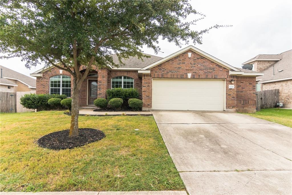 3 BR / 2 Ba / 2 1/2 car garage + 2 flex rooms in quiet Pflugerville Heights subdivision, that shows like a model. Nice open floor plan with engineered hardwood floors throughout, except baths and laundry, which are vinyl plank. No carpet! Awesome MIL plan with 2 BR's on opposite side of house from the Primary BR. Large Primary BR with big en-suite bathroom and oversized walk-in-closet.  Big family room with fireplace in center of home and 2 flex rooms at front of the house that can be additional formal living or dining room and office or bedrooms. Kitchen features updated cabinetry and quartz countertops with island and large bar/countertop area great for entertaining. Updated appliances with gas cooking. Separate dining space off kitchen. Lots of storage space in oversized garage. Covered back patio with added concrete slab and large backyard ready for you to create your oasis. There is another small patio off dining area. Backs up to farmland, so no rear neighbors! This floor plan is awesome for large families. There is also no HOA! Ideally located close to 45 and 130 tolls,  I35 and Mopac.  Minutes from new Amazon distribution center, opening this fall, and blocks from Dell HQ campus. House is currently tenant occupied until 9/30 and if you're interested in this as an investment property, tenant may be willing to continue renting with new owner. Rentals in the area are currently renting for $2000-2500/mo and expected to rise after Amazon opening, due to lack of inventory. Showings outside of open houses will need to be coordinated with listing agent and advance notice. Please respect tenant's privacy and request for prior notice, as they have a service animal.