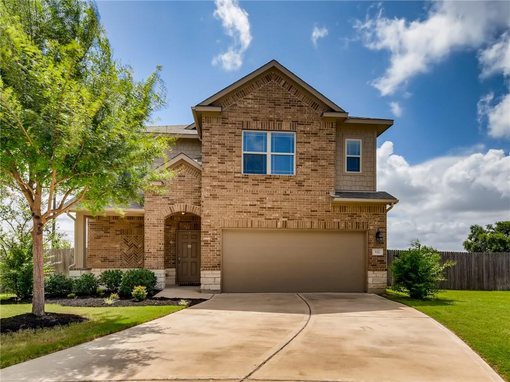 """***Seller will offer a $5,000 landscaping allowance (with acceptable offer) so that buyer can add mature privacy hedges and/or trees to the backyard!!***DO NOT MISS THIS ONE!! ABSOLUTELY PRIME LISD LOCATION - Zoned for Glenn High School! This is currently THE ONLY home built in 2015 (or newer) with 4 (or more) bedrooms priced under $450k with a TAX RATE LESS THAN 2.6%!!! Have you considered the difference the tax rate will make on your monthly house payment over the next 30 years? Run the numbers...this equates to SERIOUS savings!! Less than 6 years old....still has some builder warranties in effect, as well!! Minutes to every convenience in Highly Desirable Villas at Vista Ridge. Home sits at the back of a double cul-de-sac with no neighbors behind. Backs up to Robin Bledsoe Park. VIEWS of green soccer fields, pool, and trees from every window. Watch gorgeous sunrises from your covered back porch! AMAZING curb appeal - this lightly lived-in Sunset Ridge plan by Lennar has the 4th bedroom option upstairs!! SECOND LIVING SPACE UPSTAIRS could become a playroom, second office, informal den...you name it. PRIVATE STUDY with french doors downstairs. OPEN PLAN is extremely light and bright with WALLS OF WINDOWS!! Faux Wood Blinds on windows. Ceiling fans in nearly every room. Pre-wired for security system-downstairs panel.  Tons of storage includes a huge walk-in closet under stairs, large WALK-IN PANTRY, additional """"coat"""" closet, and linen pantries. Open floor plan allows for maximum versatility and ease of entertaining. Half bath down for guests. Beautiful kitchen with granite and tile backsplash. GAS COOKING and Breakfast Bar! STAINLESS FRIDGE CONVEYS!! HOA maintains the pretty cement wall that comprises the entire back fence line.  LARGE backyard with LEVEL play areas on each side of house...perfect for gardens, playscape, dog run, storage shed, etc. Walk the entire yard/peek around the back patio...you will be pleasantly surprised by the open space in this backyard!"""
