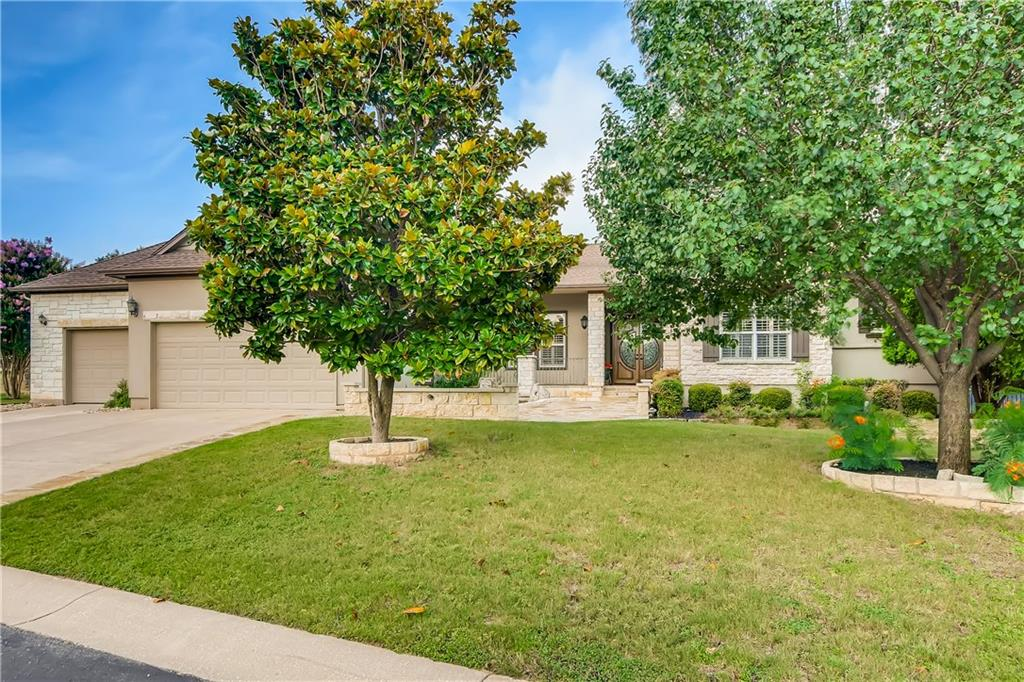 """This Milam floor plan was built by Del Webb in 1999 (2,751 SF) and backs to the beautiful signature Legacy Hills Golf Course.  As you enter this stately estate home through the gorgeous 10' double front door, you will look through the wall of windows to the back screened in patio with view inviting you to sit awhile and enjoy the beautiful, peaceful stone waterfall that spans the length of the home.  Both the large front and back patios are floored with flagstone and another stone waterfall that sits on the front patio.  The study/third bedroom has a Murphy bed built in with pretty mahogany cabinetry.  On each side of the entry is the spacious, open living and dining room area.  Kitchen opens to the great room with fireplace, breakfast area, and breakfast bar with granite countertops and lots of cabinet space with unique hardware.  The third car garage is perfect for housing your golf cart and clubs, or extra space for working on your greenhouse plants with work bench and door opening to the back/side beautifully fenced yard. This spacious home offers plenty of room for entertaining, outdoor cooking - even an indoor bar area with built in refrigerator and ice maker and built in cabinetry.  New roof - January 2021.  This beautiful home is located at the end of the private cul de sac and a must see!   """"Honey, I think this is the one!"""""""