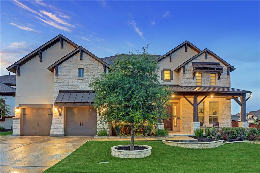 This gem of a home is located in the highly sought community of Sarita Valley, in the center of Leander. Known for a community of robust luxury homes, this exceptional, and rare Toll Brothers-Maltese Floorplan with the Hill Country Elevation sits on a LARGE 12,109 SF corner lot, in the center of this nestled location. A large 4,912 SF, 5 Bedrooms, EACH bedroom equipped with its own bathroom (5.5 Bath Total), outdoor living patio, large game room or second living area and ideal media room space! **Media Room Entertainment Station, Projector, Screen and Sound is negotiable - or included for the RIGHT offer.** Curved staircase upon entry, vaulted ceilings in the entry and living areas, large windows allowing an abundance of natural light in throughout the day helps to emphasize the beauty of this home. Kitchen faces the living area and windows to the backyard, large pantry and plenty of cabinet space. Laundry room offer separate wash sink and drop zone for jackets and shoes! A 3-Car Tandem Garage comes professionally equipped with a TESLA charging station as well as additional storage space. Don't miss the hidden attic storage unit located inside one of the room closets! Community Amenities include walking trails, swimming pool, playscape all centered in the highly rated LEANDER ISD. Large backdoor yard allows plenty of room for a pool. Measured renderings from a private pool company have been created to show potential and possibility of this space.