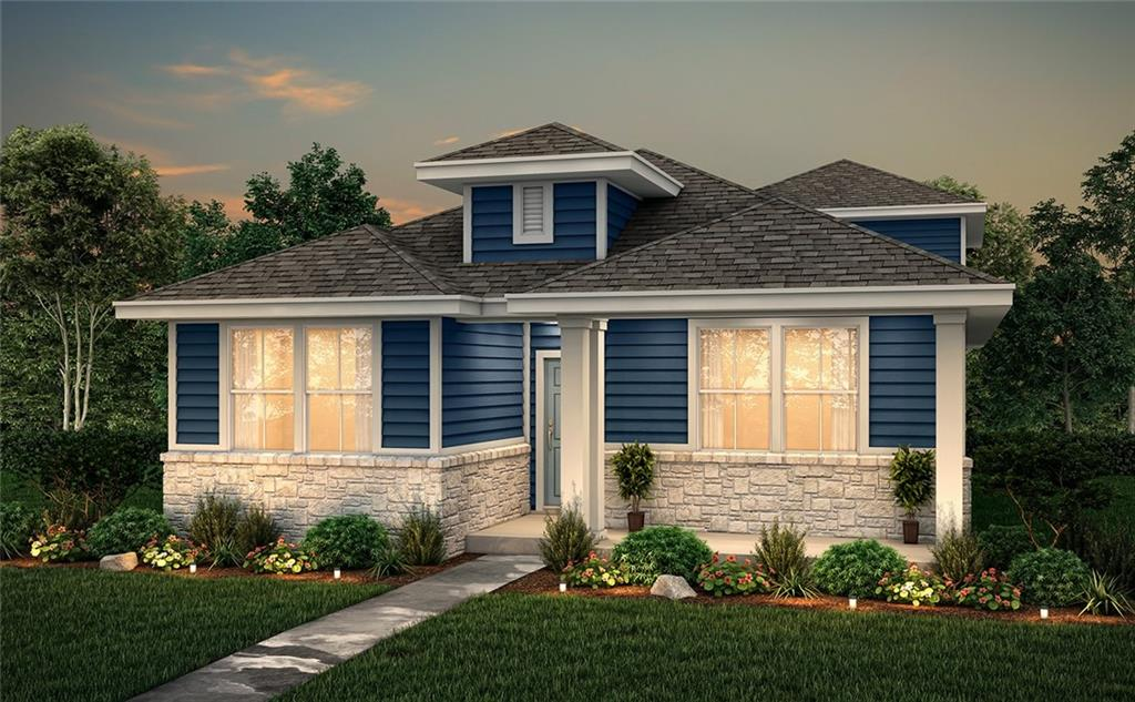 """1.5-stories; 4 Bedrooms, 3 Bathrooms, 2-Bay, alley-load garage. Bonus room upstairs upgraded to include powder bath layout.  Kitchen features 42"""" gray cabinets, subway tile backsplash and quartz countertops. Upgraded under cabinet lighting and stainless-steel single bowl sink with upgraded faucet.  Upgraded to include covered patio and 10x10 pergola in back yard. Other upgrades include: upgraded entry door, modern rectangular sinks in bathrooms, extended wood-look tile in all common areas on first floor, 2"""" white faux wood blinds throughout and more. Knox plan, elevation A"""