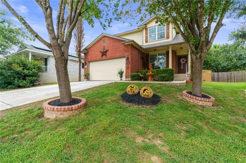 Great location in southern Pflugerville with easy access to Austin from Dessau. Brookfield is a master planned community with parks and pool access included in the HOA.  Walking distance to Stoney Creek Park with over 50 acres of green space, playgrounds and a pavilion. Really well maintained home with tons of extras including a Tuscan inspired kitchen, with granite and travertine backsplash.  Travertine look tile, wood up the stairs and in the upstairs family room.  Expansive back yard with beds, sitting areas, deck, storage and freshly stained fence and deck.  Recent interior paint and roof.  Pre-inspected.