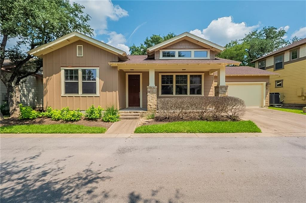 VACANT! Cute 2/2 Cottage condo in convenient NW location.  Wood blinds throughout, granite counter tops, stainless steel appliances, back patio that faces woods and NO CARPET!  Private Community has nice pool with cabana area and feeds into RRISD and Westwood. Tour today!