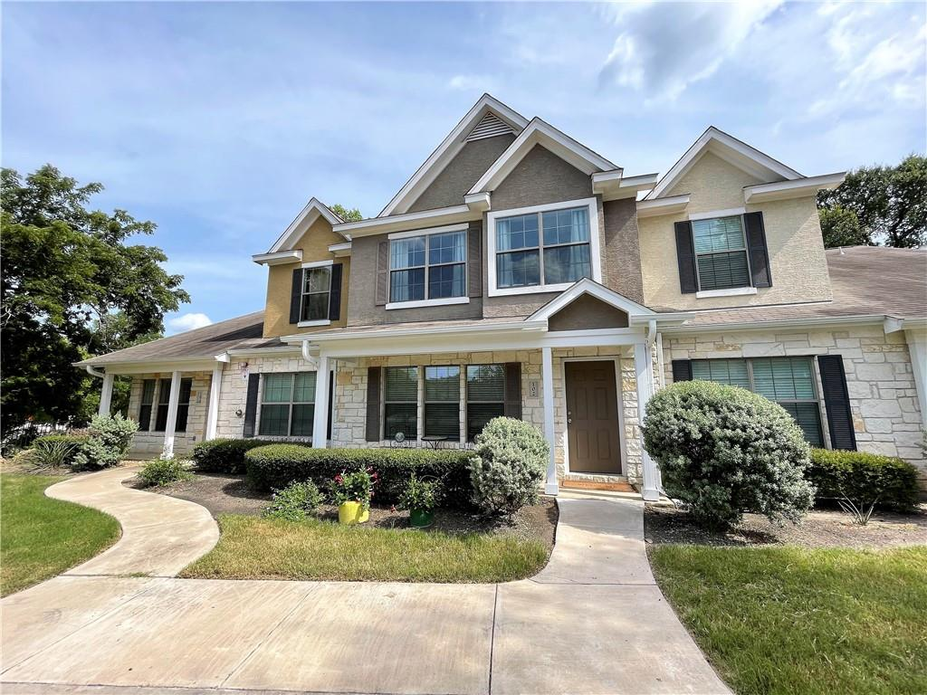 This Beautiful & well maintained 3 Bed/ 2.5 bath townhome is move-in ready ~ Townhome community boarders and is conveniently located within walking distance to the upcoming new planned Destination Bell Boulevard District which is to include a park, walking trails, new library, shopping, restaurants, etc. ~ HOA fee pays water, sewer, trash, exterior master insurance, monitored interior fire sprinkler, lawn maintenance front & back yards & common areas ~ Refrigerator, washer & dryer, and all window treatments convey with the property ~ New wood plank tile in living room & dining room ~ Hard tile in kitchen, powder bath, pantry & laundry room ~ New carpet on stairs, 2nd floor & all bedrooms ~ Interior walls & trim painted in 2020/2021 ~ Coat closet and under stairs storage ~ Ceiling fans in LR & all bedrooms ~ New mirrors & vanity lights in all 3 bathrooms ~ Large master suite w/cathedral ceiling, walk-in closet & ensuite bath ~ Guest bath on first floor ~ Full length ceiling height kitchen cabinets ~ Breakfast bar kitchen island for 2 ~ Sliding glass door from kitchen to covered back patio ~ Exterior storage closet on back patio ~ Wrought iron fence in back yard ~ Landscaped back yard with white rocks & pavers, extended patio, new trees & grass ~ Exterior front and back porch painted 2021 ~ Close to The Parke and 1890 Ranch, shopping, restaurants & entertainment ~  Close to 183A toll road ~ See features list for more upgrades and features ~ Zoned for desirable Leander ISD schools.