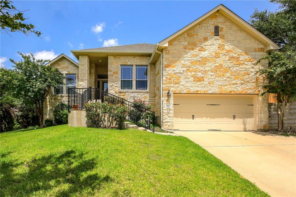 This four bedroom, two bathroom home is located in the highly desired Forest Oaks neighborhood in a quiet culdesac on a greenbelt. Enjoy quick access to 183, shopping, dining, and entertainment! Home sits near Leander ISD elementary, middle and high schools. Community includes a lovely outdoor pool and parks.  Inside, enjoy one story living with an open floor plan. No carpet! Tile flooring throughout. Host your guests with a large breakfast nook that features a built in window seat (with storage!), or have a meal in the formal dining room. Kitchen includes stainless steel appliances and a center island. Large primary bedroom with 5-piece private primary bathroom. Work from home with your very own home office space. Three additional bedrooms, a full bathroom and a  spacious laundry room complete this home.  Outside, the shaded backyard allows for plenty of room to relax. With large trees and a covered patio, you'll be able to appreciate outdoor living year around. Included updates and upgrades: Trees professionally trimmed (2021), freshly painted throughout (2021), new AC (2020), new roof (2019), ceiling fans in all bedrooms and home office, and more!