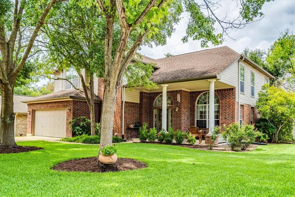 Lovely four bedroom home with two full bathrooms & one half bathroom. Many recent updates including a master bathroom remodel in June of 2021. The home is situated perfectly on a large corner lot on a quiet tree lined street. The backyard has a 3,500 gallon pond & plenty of room for a pool. Some other features of this property include- A two car attached garage. A good sized wood deck overlooking the pond. A large covered front porch. Lush landscaping in both the front & the backyard. An impressive entry foyer & a living room with a wall of windows. & much more. A quick commute to downtown Austin and Round Rock. Close to schools, shopping, parks, event venues & so many of the places that Austin & Cedar Park residents enjoy.