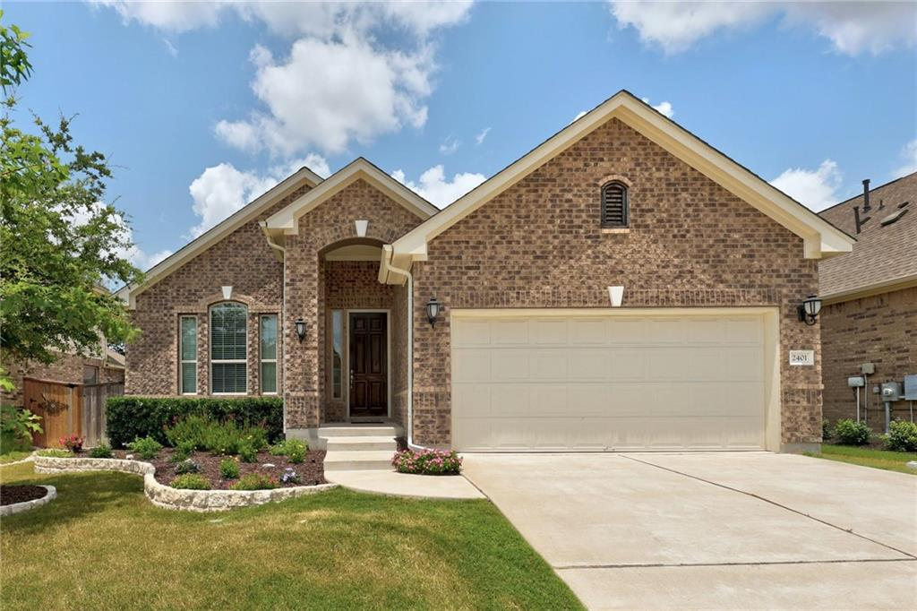 ***Multiple offers received. Offer Deadline of Sunday 7/25 at 6pm.***Come enjoy Texas living in the wonderful experience of the golf course community of Crystal Falls in Leander! This beautiful Taylor Morrison Magnolia floor plan offers stunning hand-scraped wood floors, gorgeous granite countertops, and spacious living areas! With over 2000 sqft this home has a large primary bedroom and generous secondary bedrooms, a study with tall glass doors, and a kitchen the size of Texas. The stainless steel built-in oven and range is ready for some good ole home cooking. The community offers 2 swimming pools, hike and bike trails, a tennis court, frisbee golf, soccer fields, an 18 hole championship golf course, and much more! It is also a part of the award-winning Leander ISD! Just minutes away from wonderful shopping, great restaurants, and concert/sporting venues.  Now you can own a part of something special and see why everyone is moving to Leander!